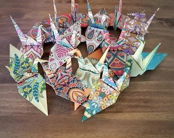 Large Origami Paper Cranes, Origami Paper Cranes, Bohemian Decor