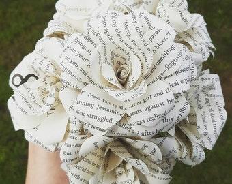 Clockwork Angel Book Bouquet- Wedding- Paper Flowers - Book lover gift- Geek gift- Wedding Bouquet- Book Flowers - Valentines day gift