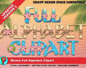 Moana - Full Alphabet Clipart - 8 Full Alphabets - 288 png files 300 dpi