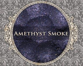 AMETHYST SMOKE Shimmer Eyeshadow: Samples or Jars, Smokey Dark Purple, Loose Powder Eyeshadow, Vegan Cosmetics, Ships Out in 5-8 Days