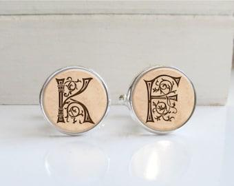 Initial Cufflinks, Personalized Custom Cufflinks