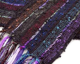 handwoven scarf renaissance colors lightweight