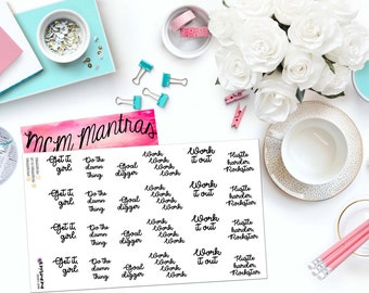 "MCM MANTRAS: ""Neutral Goal Digger"" Paper Planner Stickers!"