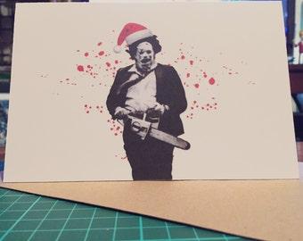 Texas Chainsaw Massacre Leatherface Christmas Card