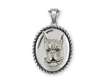 Boxer Pendant Jewelry Sterling Silver Handmade Dog Pendant BXJ8-VP