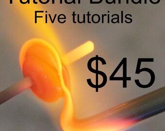 Naos Glass - Bundle Five Lampwork Tutorial Digital Download PDF Files - Handmade Lampwork Beads SRA