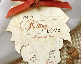 Fall Baby Shower Invitations, Autumn Shower Invitations, Leaf Baby Shower Invitation, Falling in Love with Baby, Rustic Baby Shower Invites