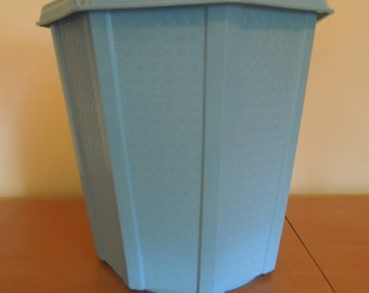 Vintage Rubbermaid Vanity Wastebasket Sky Blue 1980s