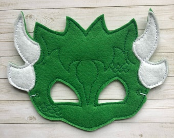 Dragon Mask - Dress Up,  Costume, Pretend Play, Photo Props, Party Favours, felt mask