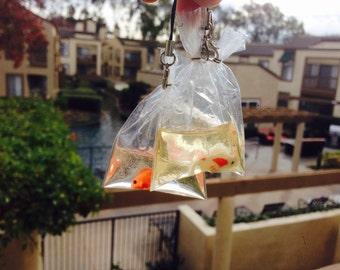 Mini kawaii fish charm, polymer clay charm, goldfish charm, fish charm