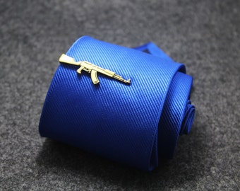 copper gun tie clip