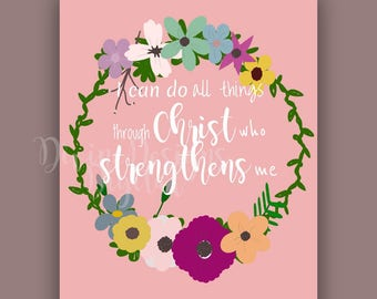 I can do all things through Christ digital instant download