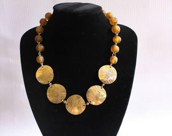 Maasai jewelry-Beaded Necklace-African Maasai Beaded Necklace-Brass necklace-Statement Necklace-African Jewelry-Gold Necklace-Gift for Her