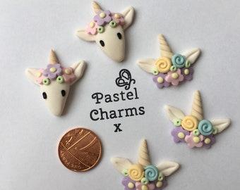 Flatback unicorn and crown embellishments deco