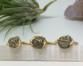Pyrite Wire Wrap Ring