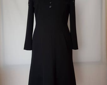 1920s cocktail dress Black with lace
