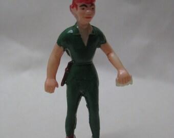 Peter Pan Disney Figurine Plastic Vintage Miniature