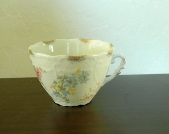 Antique Weimar Large Porcelain Tea Cup - Circa 1900 - Made In Germany
