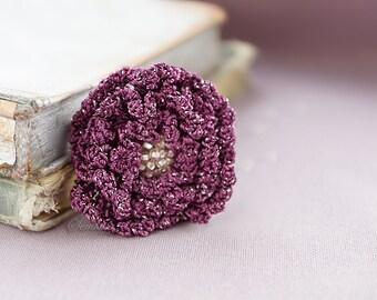 Grape crochet flower brooch 4,  accessory
