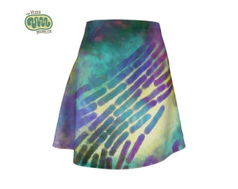 Primordial soup skater skirt - microbiology science fashion featuring bacteria