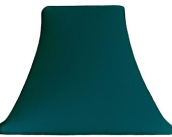 Teal lamp shade etsy teal slip covers for lampshades aloadofball Image collections