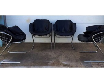 Italian Mid Century Gastone Rinaldi Chrome Chairs Price is for one