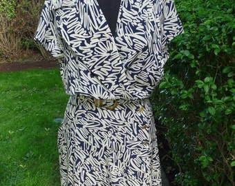RARE 100% Authentic Vintage Chanel silk shirt day dress