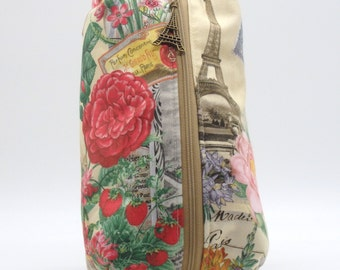 Paris Exposition 1889, Large Ditty Bag, Travel Pouch, Shave Kit, Makeup Bag, Dopp Kit, Toiletry Bag, Pencil Case, Wet Sack, Gifts Under 20