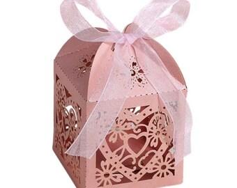 5 x PINK Gift Boxes 5cm x 5cm x 7.5cm
