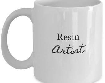 mugs for artists, artistic ceramic mug, gift idea for artist,artist gift ideas,artistic gift, gift for an artist, resin artist mug