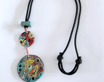Colorful Fimo Spring necklace from circles