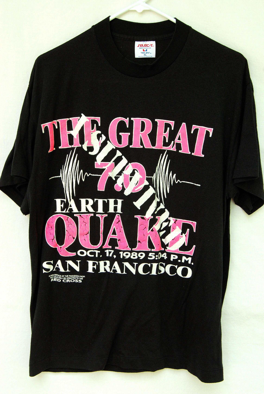 Vintage 80s I Survived the San Francisco Earthquake 1989