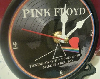 Pink Floyd - Dark Side Of The Moon - Ticking Away The Moments That Make Up A Dull Day -Desk Clock - Original - 5 inch Laminated Face Time