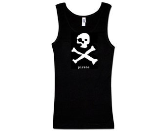 Ladies Tank Top - Ghost Pirate Skull and Crossbones