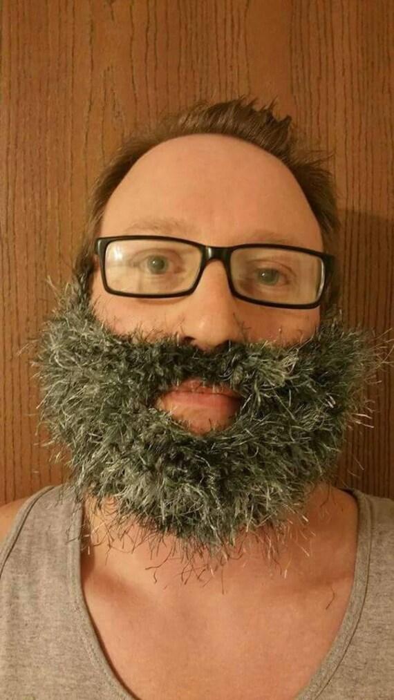Fake Beard, Costume Beard, Cosplay Beard, Adult Beard, Halloween Beard, Lumberjack Costume, Crochet, Knit Beard, Fuzzy Beard