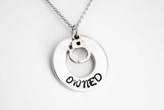 Owned handcuff necklace owned necklace bdsm necklace aloadofball Image collections