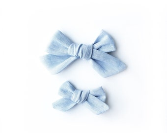 The Ollie Bow- Chambray
