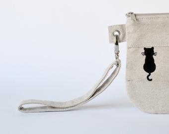 Wrist Strap Zipper Pocket