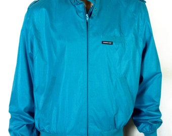 vtg 80s NWT NOS Members Only Europe Craft TURQUOISE Cafe Racer Jacket biker 46