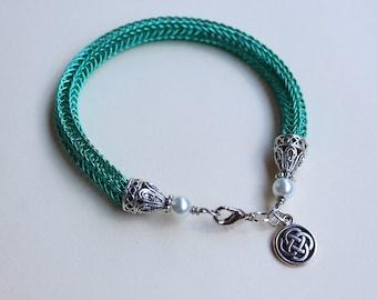 Turquoise Viking Knit Bracelet