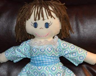 "Brunette 15"" Handmade One of a Kind Doll"