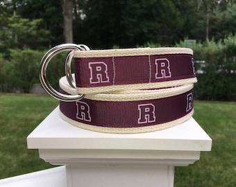 R Belt for YOUNGER Boys / Boys Belt / Ridgewood Belt / Ridgewood New Jersey Belt