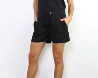 Black Cotton Playsuit.