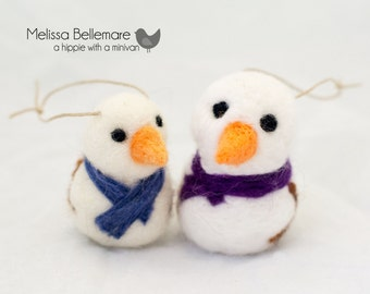 Needle Felted Ornaments:
