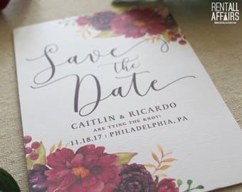 Floral Water Color Save the Dates