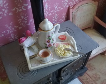 1/12 dollhouse miniature - breakfast tray