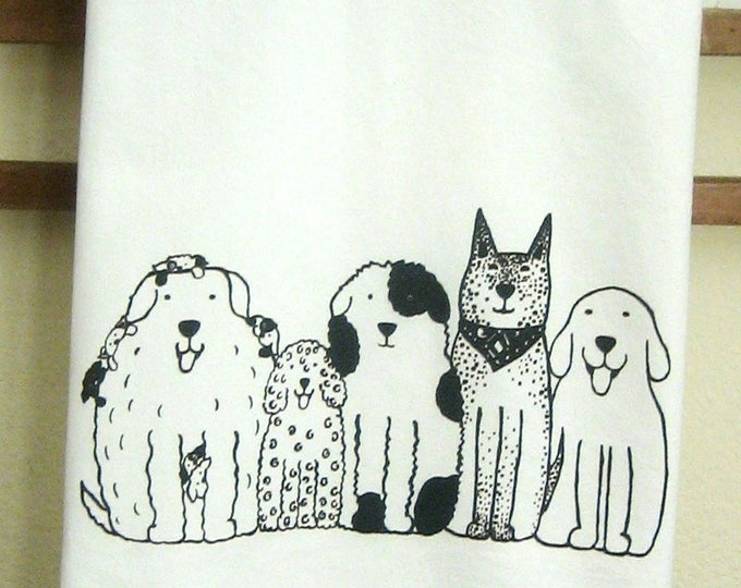 Dogs in a Row Kitchen Towel