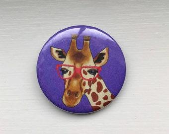 Nerdy Giraffe Button/Pin