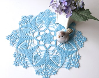 Crochet Doily - Blue