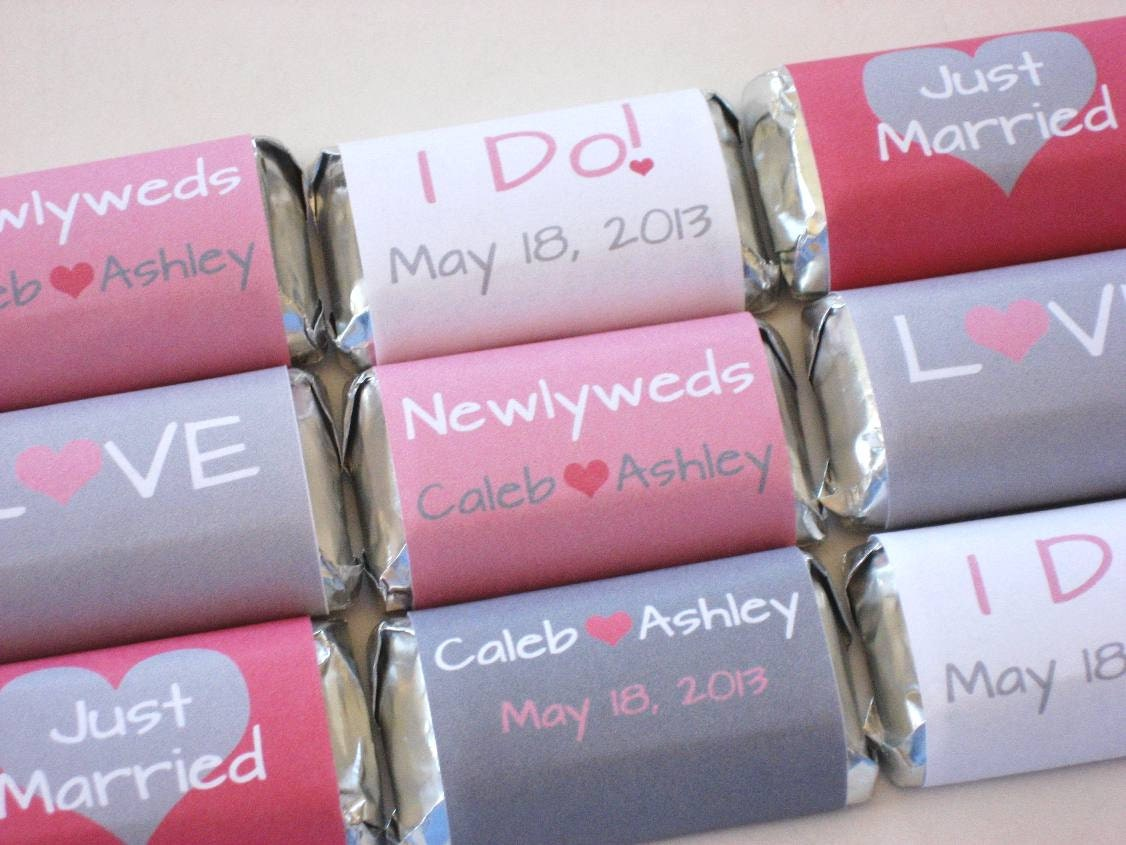 chocolate bar wedding favors - Wedding Decor Ideas